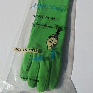 Vintage long green gloves